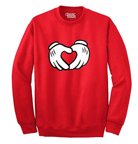 Cute Heart Cartoon Mouse Girlfriend Couple Youth Sweatshirt - Pete Mickey Mouse Shirt