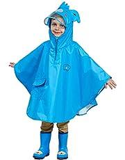 Livacasa Regenponcho, uniseks, waterdicht, ademend, licht, huidvriendelijk, regenkleding, regenjas, overall, regencape, regenjas, slicker met zak, voor meisjes en jongens (blauw, L)