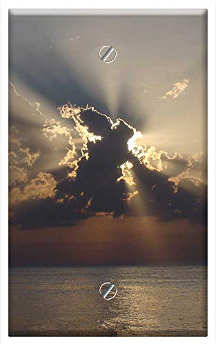 Single-Gang Blank Wall Plate Cover - Eclipse Cloud Cover The Sun Clouds Nature View