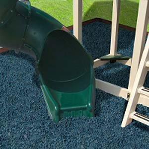 KIDWISE Swing Set Playground Rubber Mulch 75 Cu.Ft. Pallet-Blue