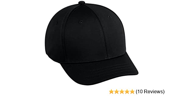 Amazon.com   Baseball Home Plate Umpires ProFlex Fitted Cap BLACK  (MEDIUM LARGE) 2