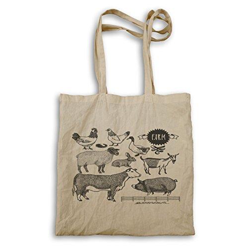 Farm gesetzt Tiere Tragetasche u189r