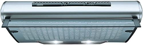 Zanussi ZHT610X Semintegrada (extraíble) Plata 250m³/h - Campana (250 m³/h, Recirculación, 60 dB, Semintegrada (extraíble), Plata, 40 W): Amazon.es: Hogar