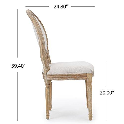 Christopher Knight Home 300258 Phinnaeus Beige Fabric Dining Chair (Set of 2), by Christopher Knight Home (Image #5)