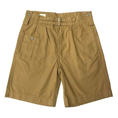 Double Pleated Chino - VTGDR Retro Men's Double Pleated Chino Army Shorts W34-W35 Khaki