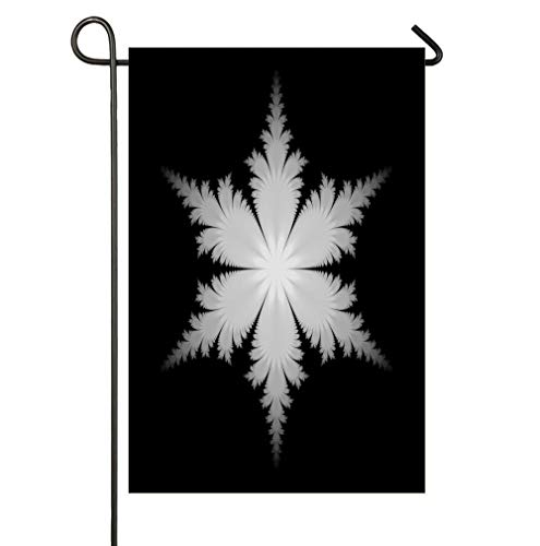 AnleyGardeflagsU Fractal Snowflake Seasonal Garden Flags Artistically Designed Yard Flags ()