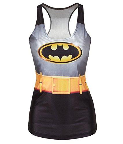 Amoluv Hot Fashion Women Batman Printed Sleeveless T Shirt Vest Tank Tops BX001 One -