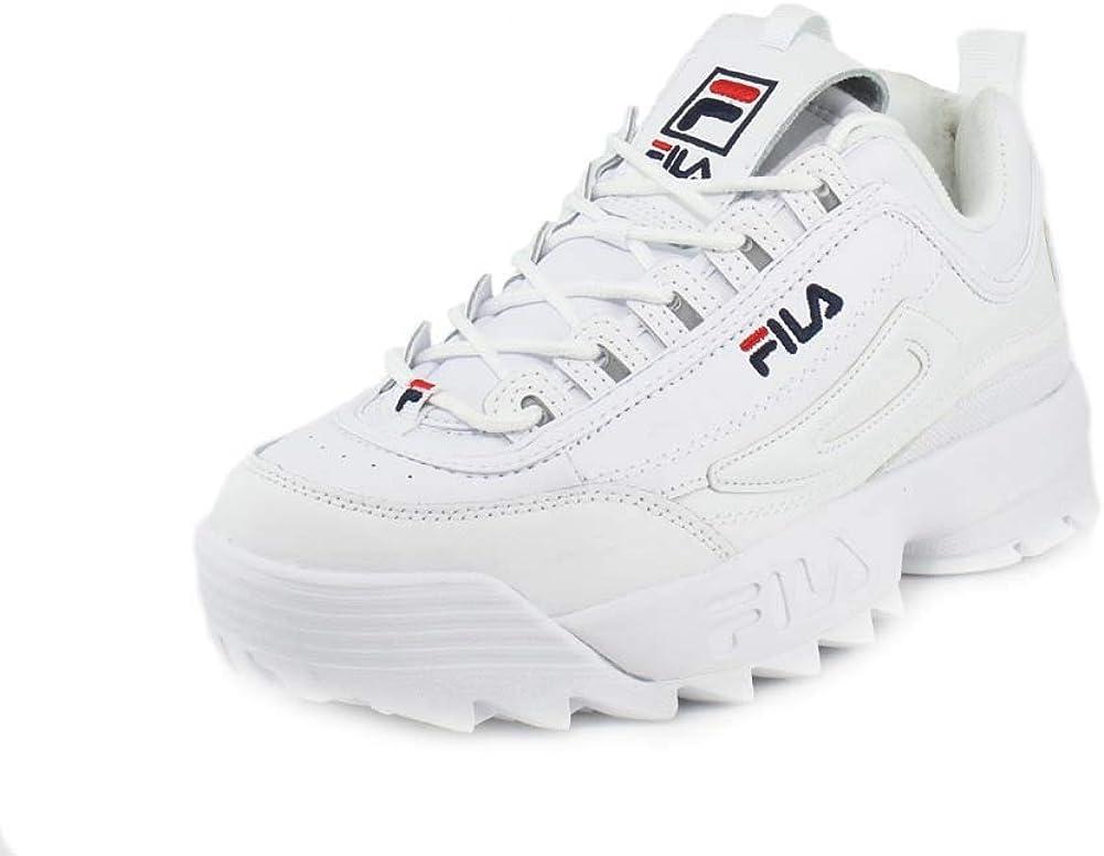 Fila - Zapatillas Disruptor para hombre, Multicolor (Blanco azul ...