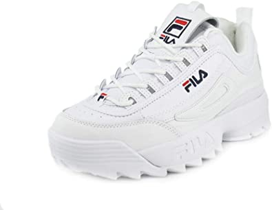 Fila - Strada Disruptor - Zapatillas para hombre, Multi (Blanco azul marino  rojo), 40.5 EU