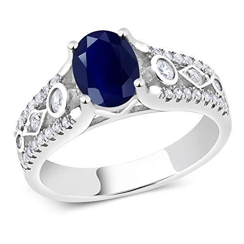 Gem Stone King Sterling Silver Blue Sapphire Women