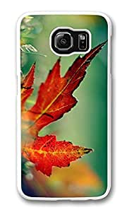 Galaxy S6 Case, S6 Case,Autumn Scenes 15 Shock Absorption Bumper Case Protective Slim Fit Hard PC Cover for Samsung Galaxy S6 White