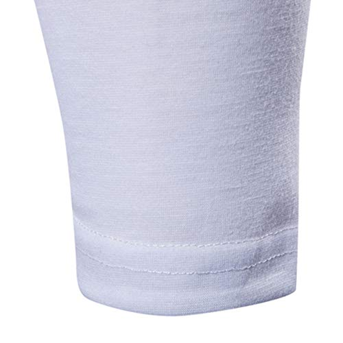 Dogzi Sección Trench Con Suéter Capucha Larga Hombres Sólido Slim Casual Blusa Cardigan Color Blanco Ropa Manga OIITrq