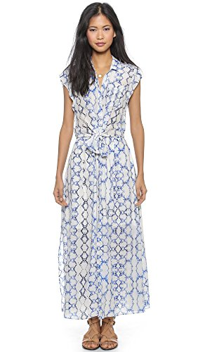 Rebecca Taylor Women's Tie Dye Maxi Dress, Blue Combo, 8