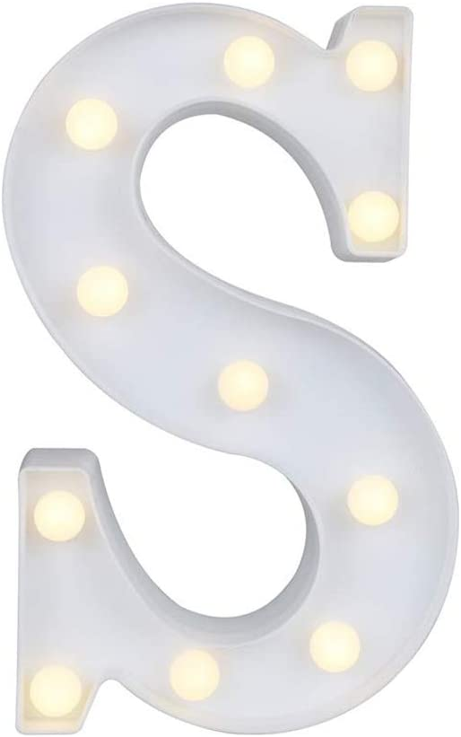 MUMUWIND Marquee Letter Lights,26 Alphabet Light Up Marquee Letters Sign Battery Powered Christmas Night Light Wall Desktop Lamp for Festival Decorative Wedding Birthday Home Party Bar Decoration S