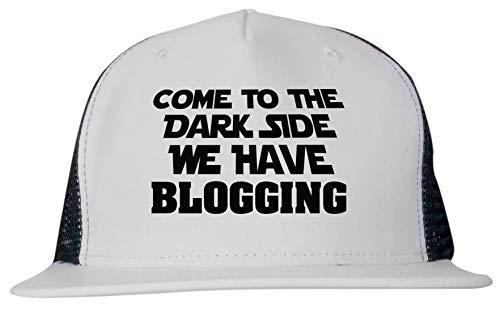 99 Volts Come to The Dark Side We Have Blogging Unisex Trucker Hat Cap Adjustable Black/White