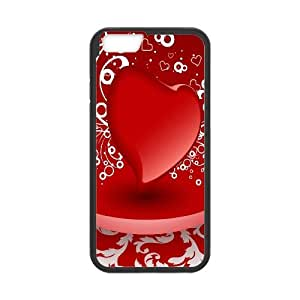 [Funny Series] IPhone 6 Case 3D Red Heart, Iphone 6 Cases for Girls Cheap Okaycosama - Black