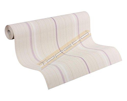 Price comparison product image Livingwalls nonwoven wallpaper Esprit 8 933225 beige green purple