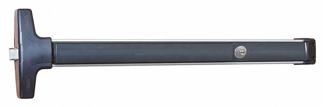 Rim Exit Device Satin Aluminum Series V40 Exit Device