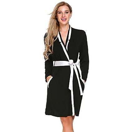 WDDGPZSY Camisa De Dormir/Camisón/Ropa De Dormir/Pijamas/Elegante Robe Kimono