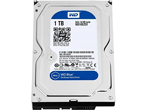 WD Blue 1TB SATA 6 Gb/s 7200 RPM 64MB Cache 3.5 Inch Desktop Hard Drive (WD10EZEX) (Purchase System)