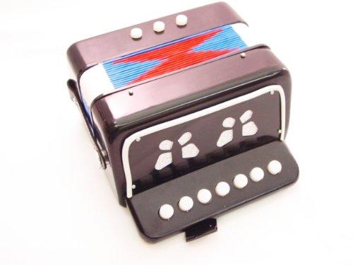 ACCORDION BLACK 7 KEY -BUTTON ORGAN (accordian) Concertina NEW EDMBG