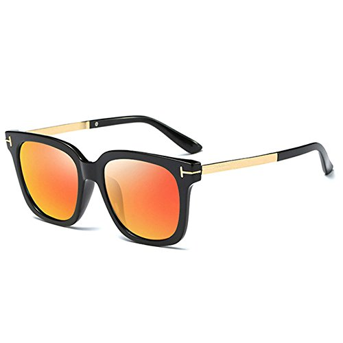 Miroir Uv400 Orange Lentille soleil Hommes Mode Hommes de Pare Rétro Lunettes Conduite Pc qqZCxEng7w