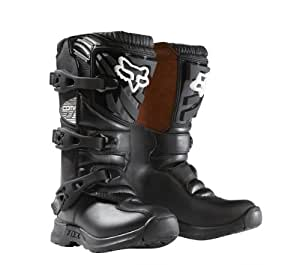 Fox Racing Comp 3 Youth Boys MX/Off-Road/Dirt Bike Motorcycle Boots - Black / Size 2