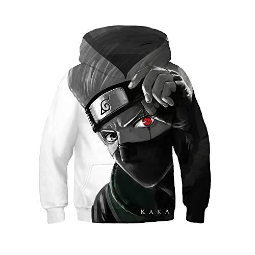 My Sky Kids Boys Kakashi Pullover Hoodie Sasuke Jacket Cosplay Costume Casual Sweatshirt (Kakashi, 12T-13T (Tag L)) (Sasuke Hoodie Jacket)