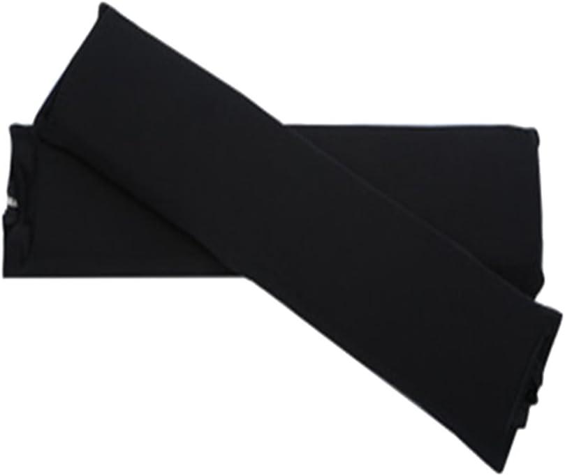 B Blesiya 1 par Silla Apoyabrazos Cubierta Cremallera Elástica Silla Brazo Cubierta Protectora - Negro