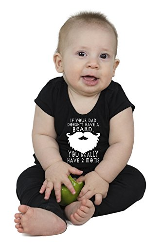 Estis Baby Couture Dad Doesnt Have A Beard | Funny Baby Girl Boy Unisex One Piece Bodysuit