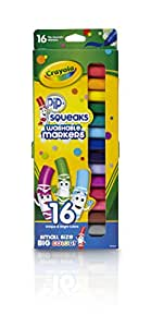 Crayola Pip-Squeaks Washable Markers, 16 count, Great for Home, Perfect Art Tools, Gift for Kids, Easy Clean Up