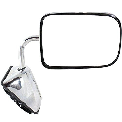 1988 1989 1990 1991 1992 1993 Dodge Ramcharger Full Size Pickup Truck Power Chrome (6×9 Glass) Manual Folding Rear View Mirror Right Passenger Side (88 89 90 91 92 93)