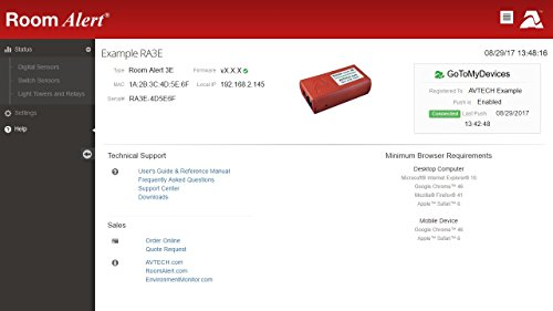 Room Alert 3E Temperature and Environment Monitor w/PoE by Room Alert (Image #6)'