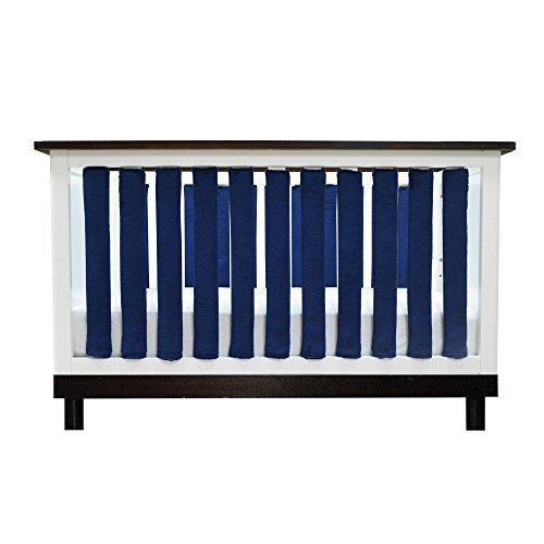 Pure Safety Vertical Crib Liners 38 Pack in Luxurious Navy Minky