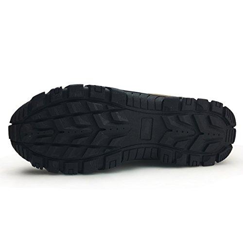 XiaoYouYu Männer Slip On Sneaker - Outdoor Wanderschuh Sport Trail Laufschuhe Casual Trekking Schuhe Stil # 3 Braun