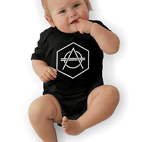 (Eowlte Don Diablo Unisex Kids Short Sleeve Playsuits Onesie Black)