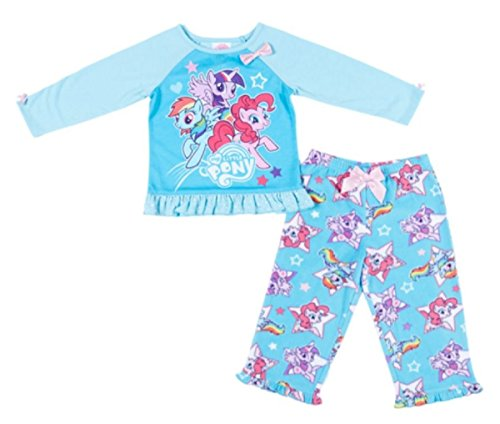 My Little Pony Girl 2-piece Pajama Set-blue (5) - Hello Kitty Pajama Costumes