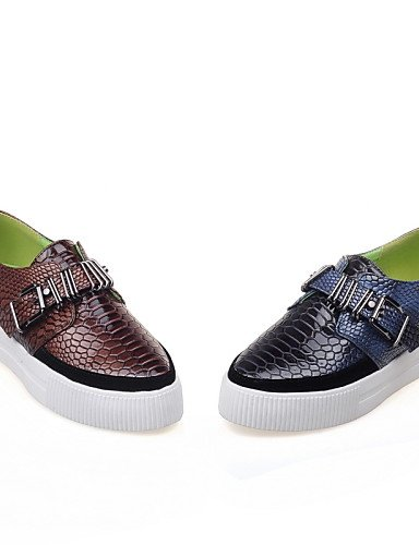 gyht us10 us4 brown eu42 uk8 5 5 Azul Tacón mujer cn43 cn43 de brown 5 Redonda Mocasines Punta Marrón eu42 5 uk8 5 us10 Bajo Semicuero uk2 2 5 cn33 brown ZQ Zapatos 4 Casual eu34 daqfwnx6d