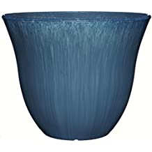 """Honeysuckle Planter, Patio Pot, 15"""" Ocean"""
