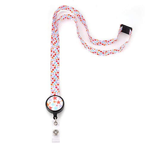 Grekywin Little stars Lanyard Keychain, ID Badge Holder, Card Holder for Business Id/key/cell Phone