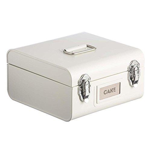 Vintage Cake Carrier (Typhoon Stowaway Coated Steel Cake Tin, 5-Quarts, Cream)
