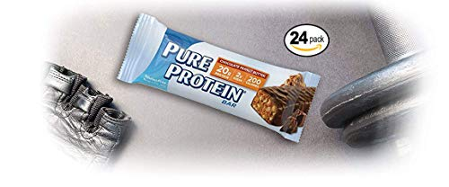 Pure Protein Bars, High Protein, Nurtritious Snacks to Support Energy, Low Sugar, Gluten Free, Chocolate Peanut Butter, 1.76oz, 24 Pack
