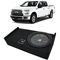 2009-2015 Ford F-150 Super Crew Truck Kicker CompR CWR12 Single 12' Sub Box Enclosure - Final 2 Ohm
