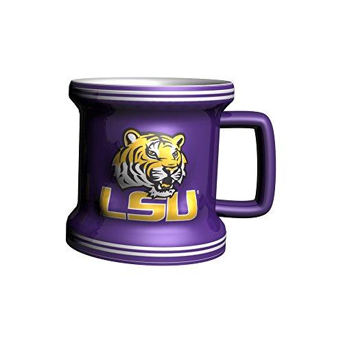 Ncaa Lsu Tigers Mugs - Boelter Brands NCAA LSU Tigers Tiger Sculpted Mini Mug, 2-ounce