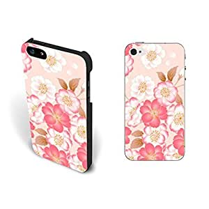 New Fashion Pastel Pink Floral Pattern Case For HTC One M7 Cover Pretty Blossom Hpister Flower Hard Plastic Case For HTC One M7 Cover Case Skin Protective for Girls.