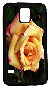 LJF phone case Blueberry Design Galaxy S5 Case Yellow and pink Roses Flowers Design - Ideal Gift