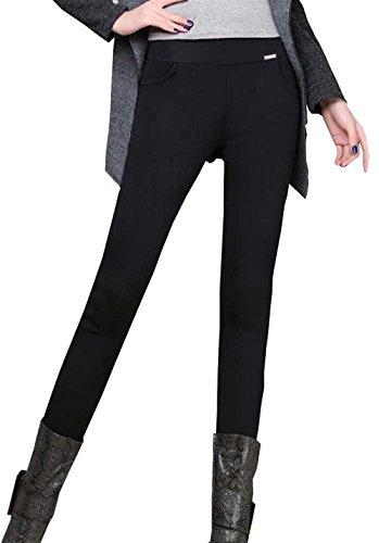 Collant Invernali Waist Addensare Skinny Pantaloni Donna Ragazza Autunno Di Colori High Pantaloni Leggins Termo Nero Elastico Basic Libero Hot Tempo Pantaloni Fashion Solidi Matita Eleganti 0aCxw6qq
