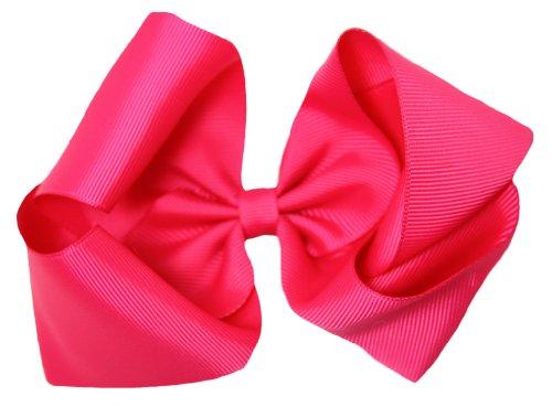 Dark Pink Grosgrain Hair Bow Clip - (Wholesale Hair Bow)