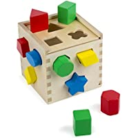 Melissa & Doug Shape Sorting Cube - Classic Wooden Toy...