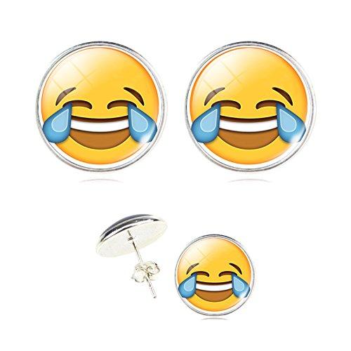Emoji-Face-Pin-Back-Earrings-Set-Assorted-Smiley-Emoticon-Earrings